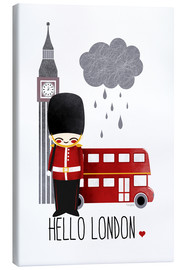 Leinwandbild  Hallo London - Kanzi Lue