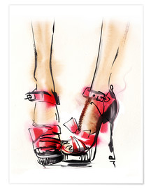 Poster  Rote Highheels