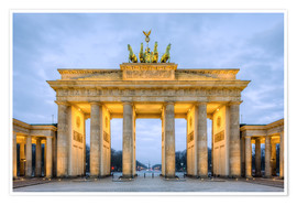 Premium-Poster Brandenburger Tor in Berlin