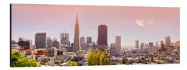 Alubild  San Francisco Skyline Red - Michael Rucker