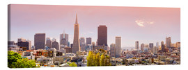Leinwandbild  San Francisco Skyline Red - Michael Rucker