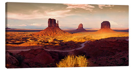 Leinwandbild  Monument  Valley  Gold - Michael Rucker