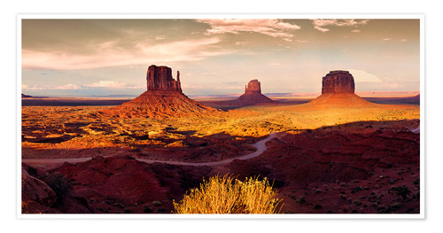 Poster Monument  Valley  Gold