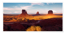 Poster Monument  Valley Licht