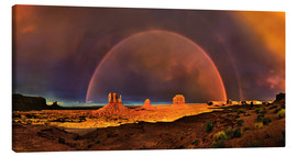 Leinwandbild  Monument  Valley Regenbogen - Michael Rucker