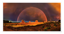 Premium-Poster  Monument Valley Regenbogen - Michael Rucker