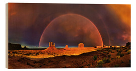 Holzbild  Monument Valley Regenbogen - Michael Rucker