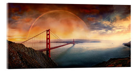 Acrylglasbild  Frisco Golden Gate Rainbow - Michael Rucker