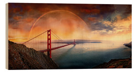 Holzbild  Frisco Golden Gate Rainbow - Michael Rucker