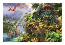 Premium-Poster Dinosaurier-Tal