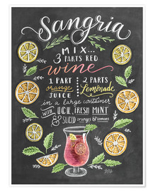 Poster  Sangria-Rezept - Lily & Val