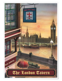 Premium-Poster  The London Tavern - Peter Green's Pub Signs Collection