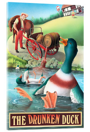 Acrylglasbild  Die betrunkene Ente - Peter Green's Pub Signs Collection