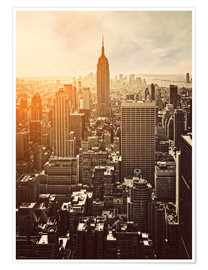 Premium-Poster  Sonnenuntergang in Manhattan, New York