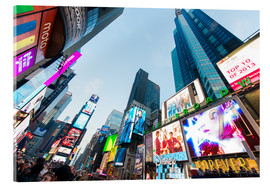Acrylglas  Times Square - beliebtester Ort in New York