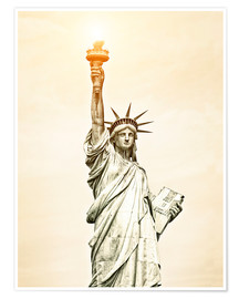 Premium-Poster  Freiheitsstatue in New York, USA