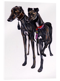 Acrylglasbild  Brindle Windhunde - Jim Griffiths