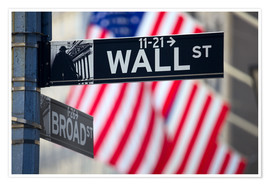 Premium-Poster Wall Street Zeichen in Manhattan, New York City