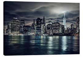 Leinwandbild  Manhattan bei Nacht, New York City