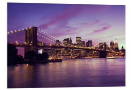 Forex  Brooklyn Bridge und Manhattan im lila Sonnenuntergang