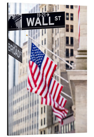 Alubild  Wall Street-Zeichen mit New York Stock Exchange