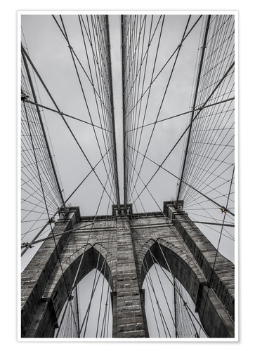 Premium-Poster Brooklyn-Brücke in New York