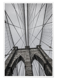Premium-Poster Brooklyn Bridge in New York