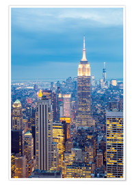 Premium-Poster Skyline von New York