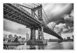Premium-Poster  Die Manhattan Bridge