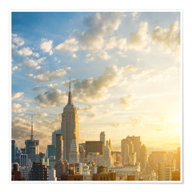 Premium-Poster  Sonnenaufgang in Manhattan, New York