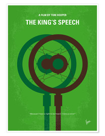 Poster No587 My The Kings Speech minimal movie poster