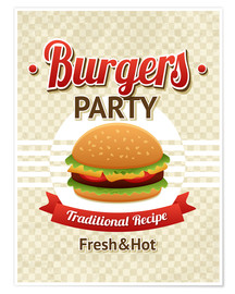 Premium-Poster  Hamburger-Party