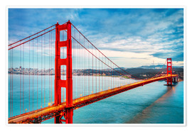 Premium-Poster  Das goldene Tor - Golden Gate Bridge
