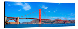 Alubild  Panorama-Blick auf Golden Gate Bridge