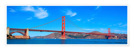 Premium-Poster  Panorama-Blick auf Golden Gate Bridge