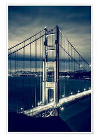 Premium-Poster Golden Gate Bridge, San Francisco