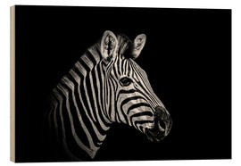 Holzbild  Zebra - close up