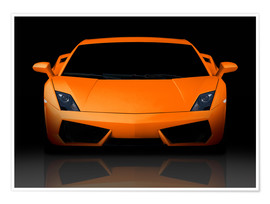 Premium-Poster  Bright orange supercar