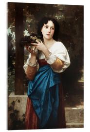 Acrylglas  In der Weinlaube - William Adolphe Bouguereau
