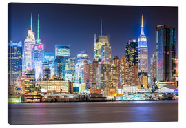 Leinwandbild  Manhattan Skyline in Neon Colors - Sascha Kilmer