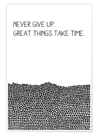 Poster  Never Give Up - SMUCK