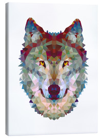 Leinwandbild  Polygonwolf