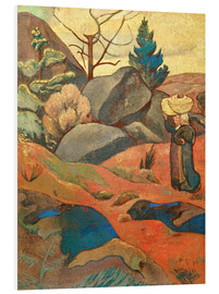 Hartschaumbild  Die Felsen in Huelgoat - Paul Sérusier