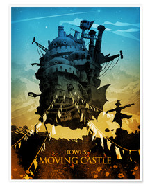 Premium-Poster  Howl's Moving Castle - Albert Cagnef