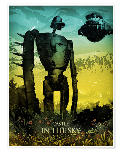Premium-Poster Castle in the Sky