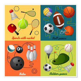 Premium-Poster  Sport frei - Kidz Collection