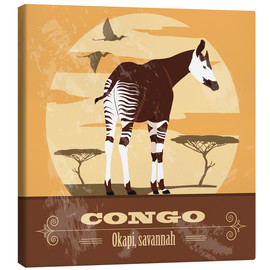 Leinwandbild  Kongo - Okapi - Kidz Collection