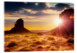Sonnenuntergang an den Schwestern in Monument Valley, USA