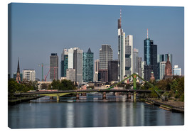 Leinwandbild  Skyline Frankfurt am Main Shining Morning - Frankfurt am Main Sehenswert