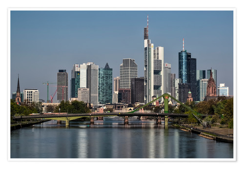 Premium-Poster Skyline Frankfurt am Main Shining Morning